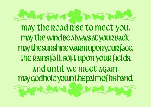 "Irish Blessing My ""Irish Blessing"" Print It Features"