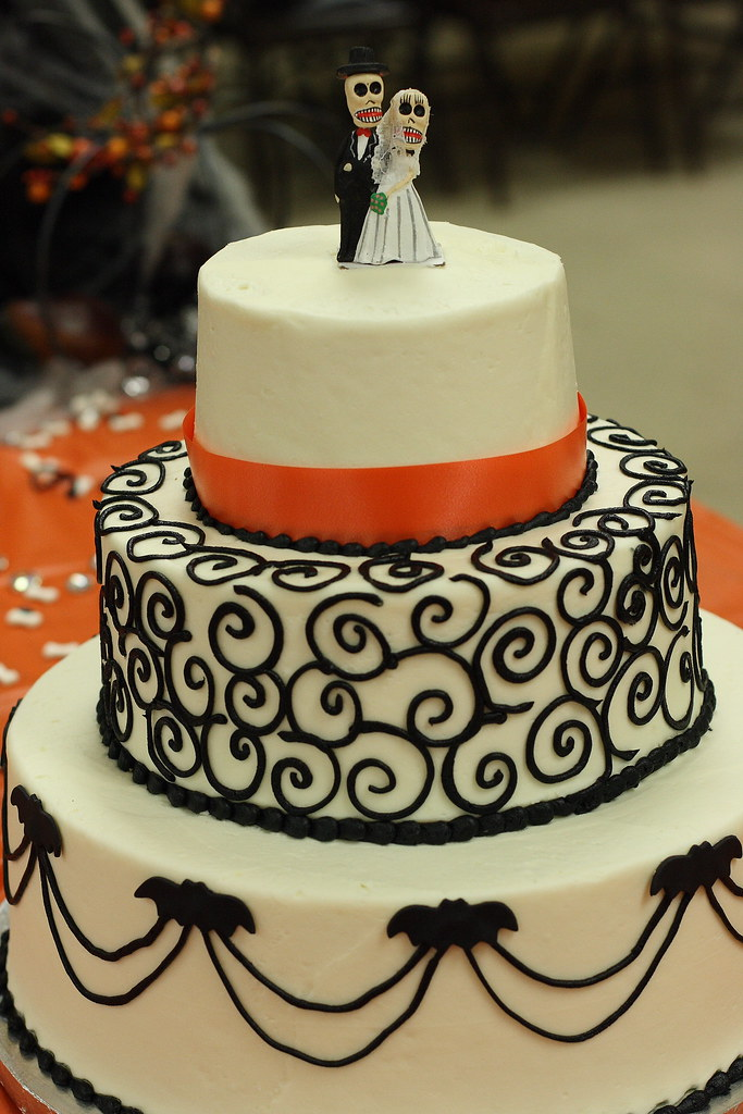 Halloween wedding cake  title explains it all  Flickr