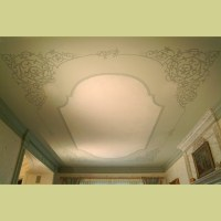 Stenciled ceiling in Dining Room. Elegant wall designs by ...