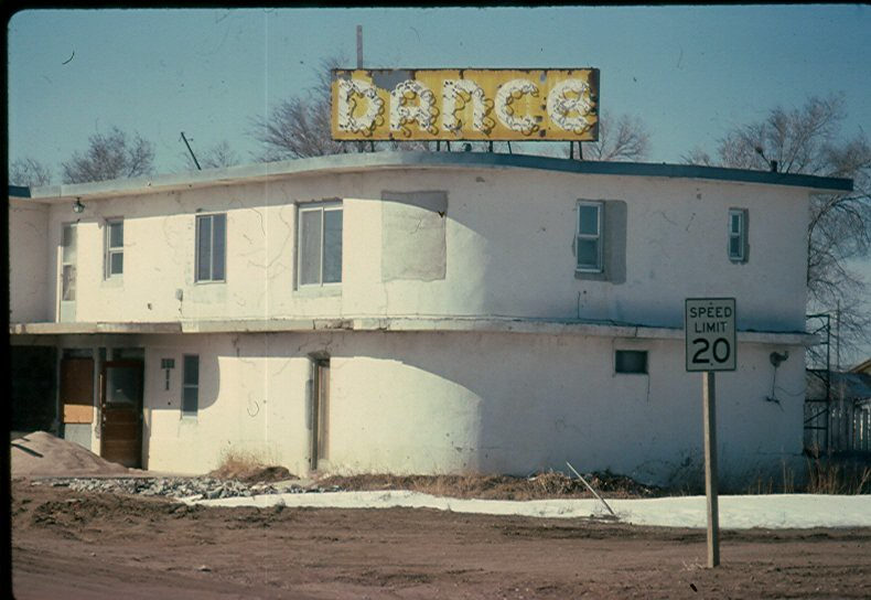 Dance hall  Located in Holcomb Kansas and described by