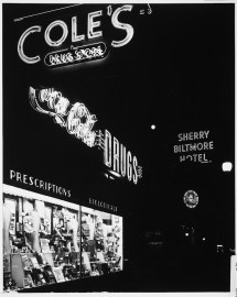Signs Night Cole' Drugstore And Sherry Biltmore Hotel