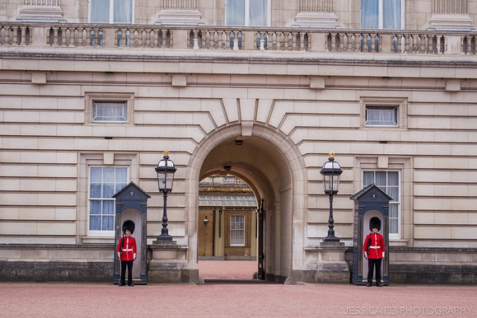 Guards outside Buckingham Palace