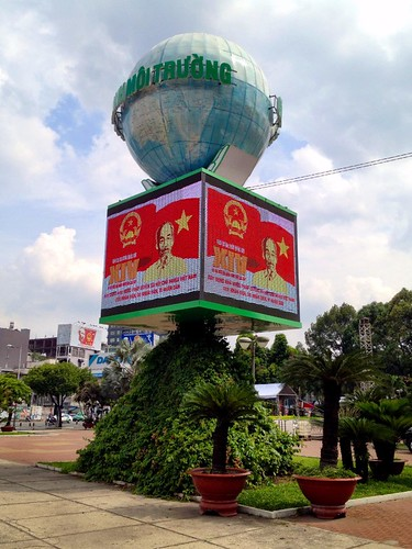 posters of ho chi minh in saigon