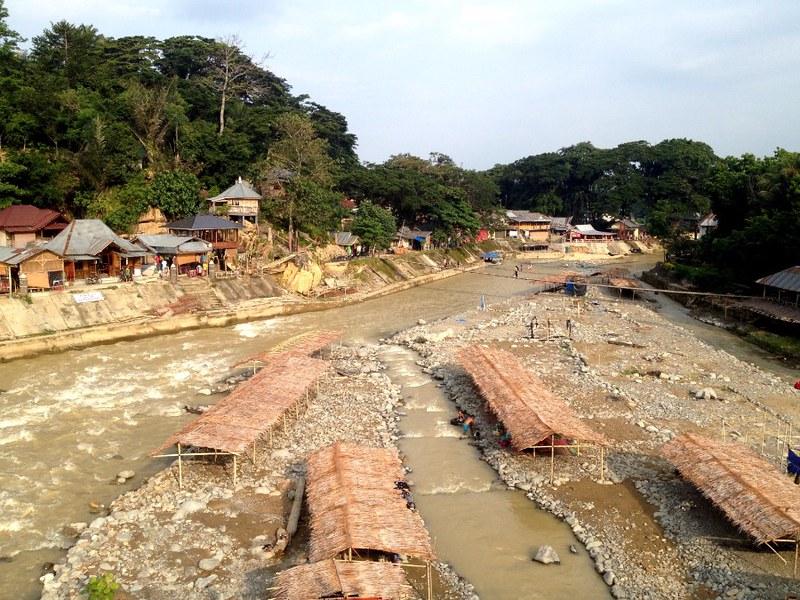view of river in bukit lawang