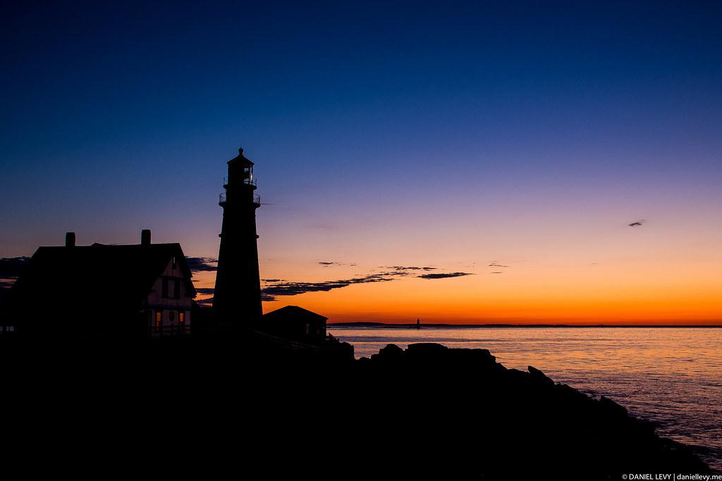 Portland Head Lighthouse Silhouette Daniel Levy Flickr
