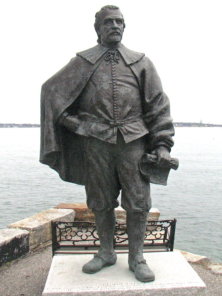 George Cleeve Statue Founder Of Portland Maine 1633 Flickr