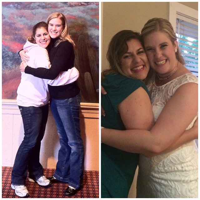 Kelli & I - 5 years ago and 5 years later