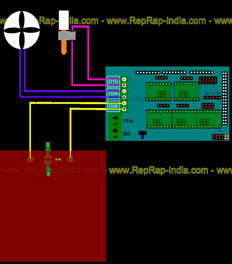 hight resolution of wiring ramps electronics for reprap prusa i3 3d printer