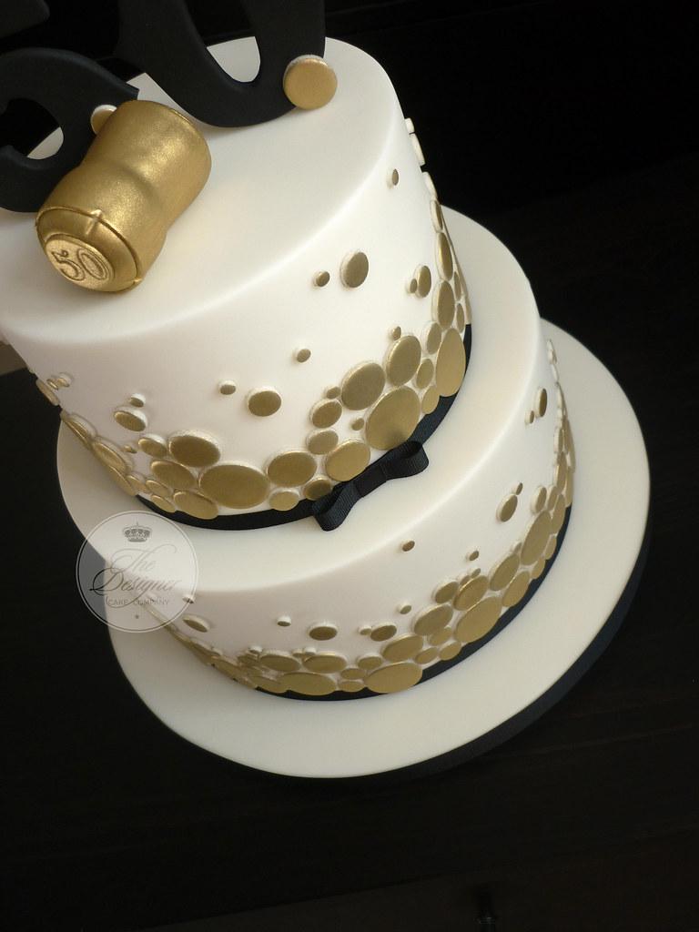 Champagne Themed 50th Birthday Cake Isabelle Bambridge