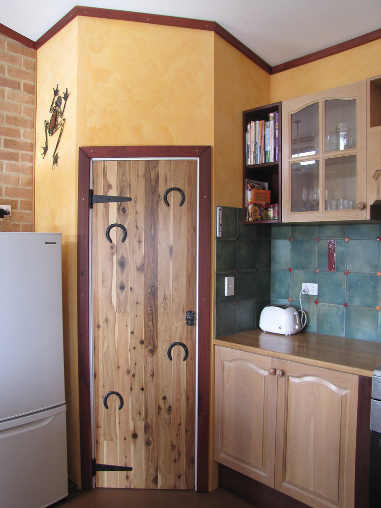 The Rustic Pantry Door Complete  Strawbale House Build in