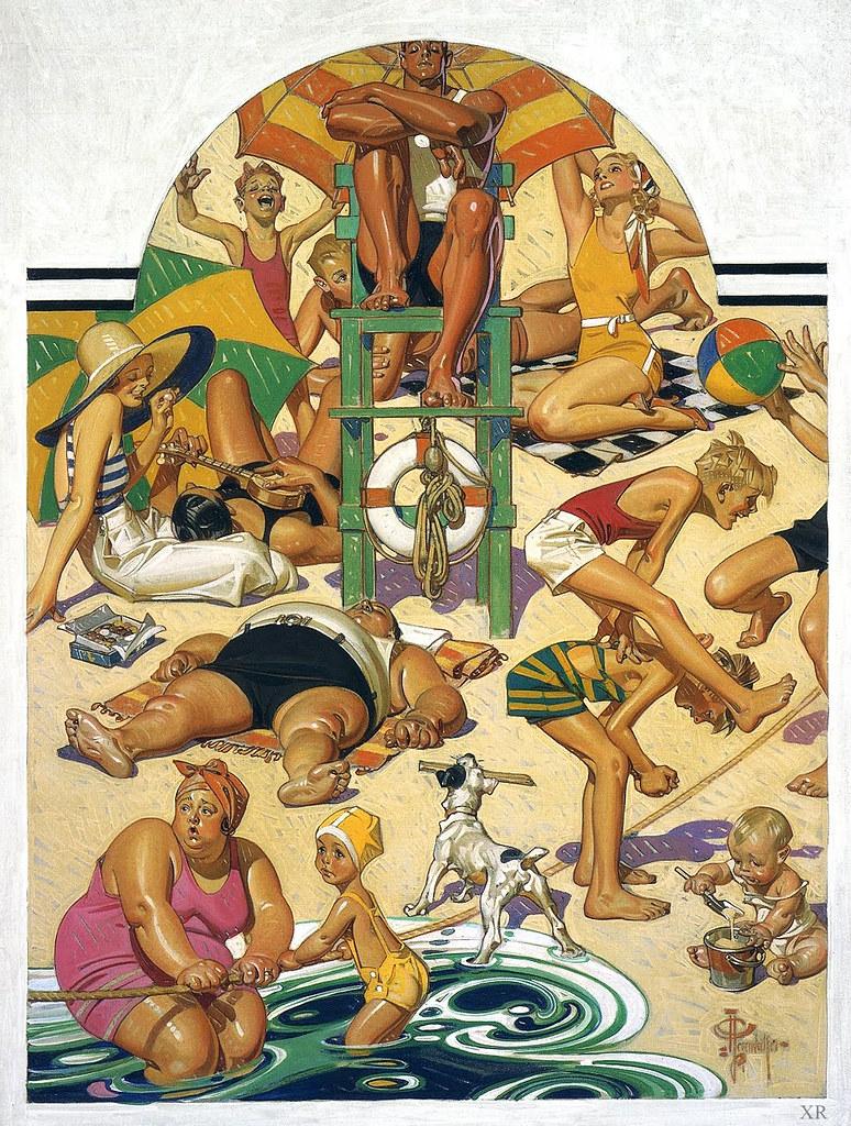 1932 Labor Day Beach JC Leyendecker