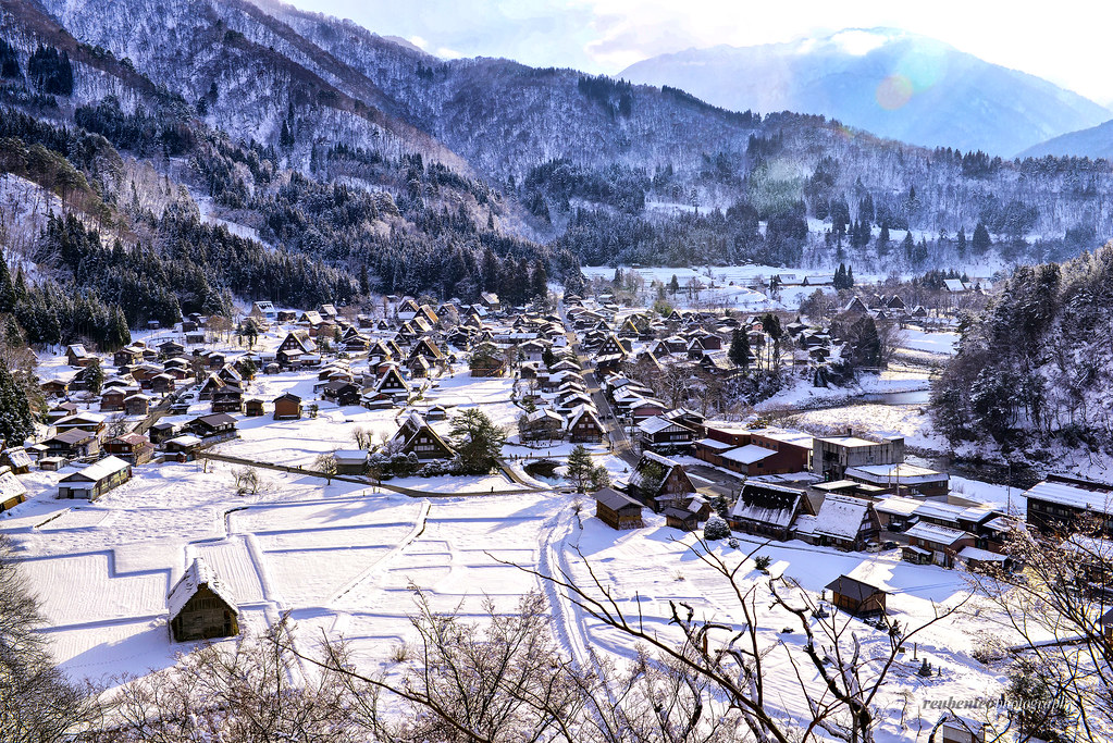 Snowy Village I Was Dreaming Of A White Christmas And It