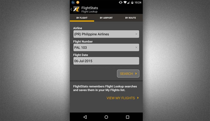 How to check flight status online step 2