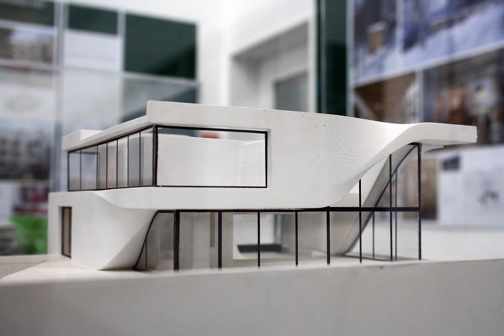 Model of Haus am Weinberg Stuttgart by UNStudio Ben van
