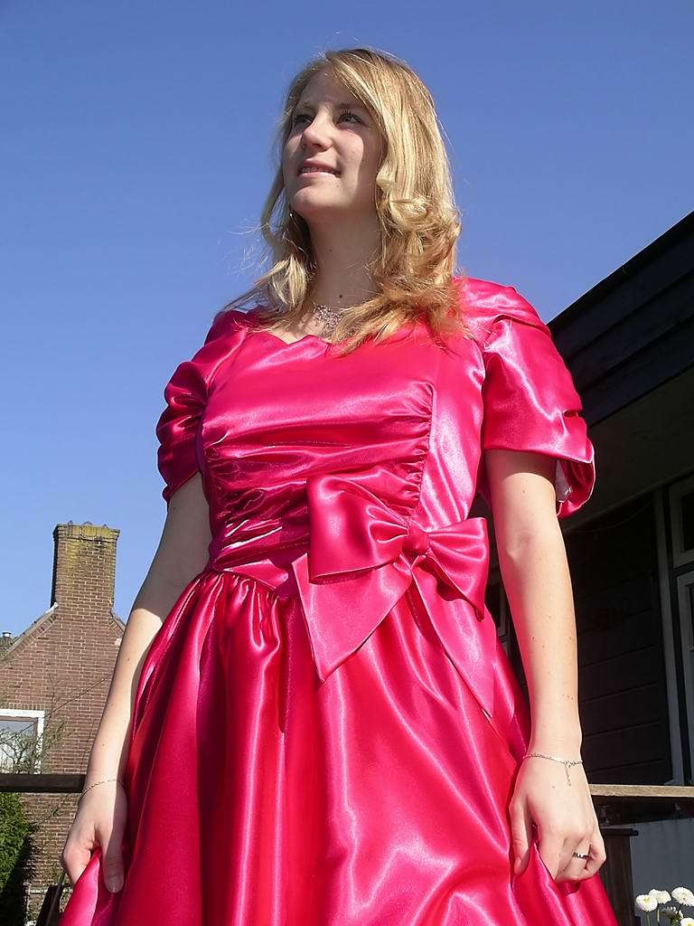 Girlish Dress She Is So Girlish In Her Bright Pink Dress