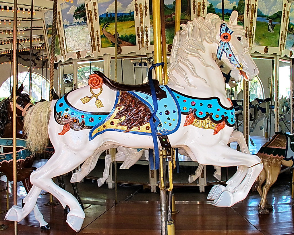 Seaport Village Carousel Horse San Diego We Visited