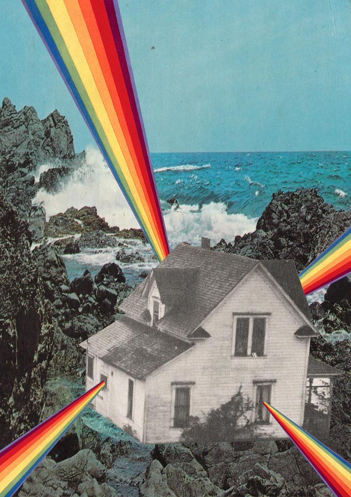 3d Art Nature Wallpaper Rainbow House Www Facebook Com Collagealinfinito Www