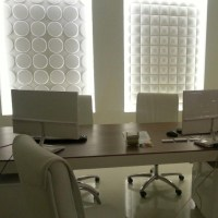 interior wall panel in luxury office | 3d wall covering ...