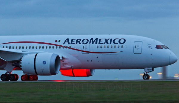 Aeromexico Boeing 7878 Dreamliner N964AM No landing