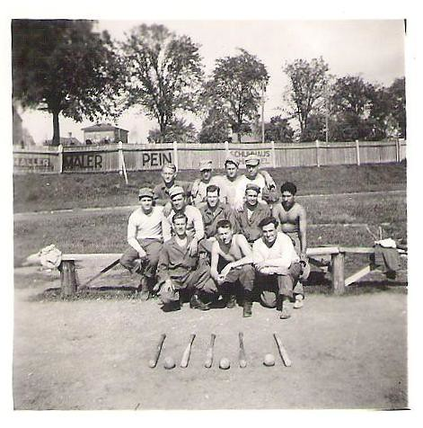 American soldiers playing baseball in occupied Germany   Flickr
