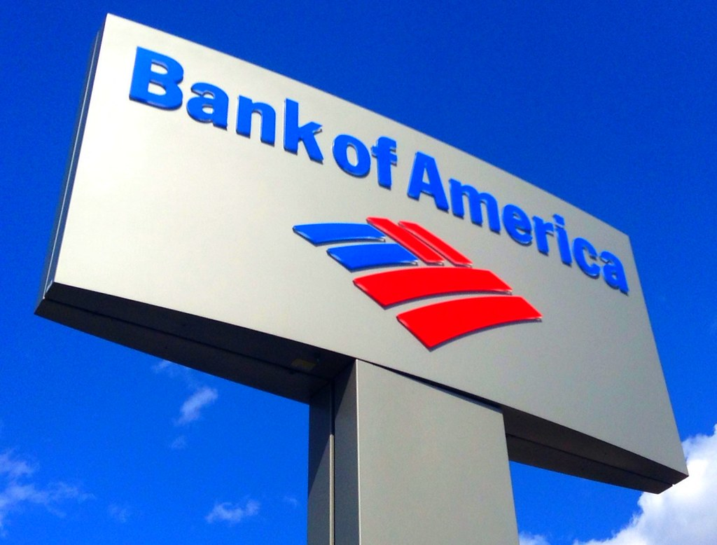 Bank of America  Bank of America Sign by Mike Mozart of