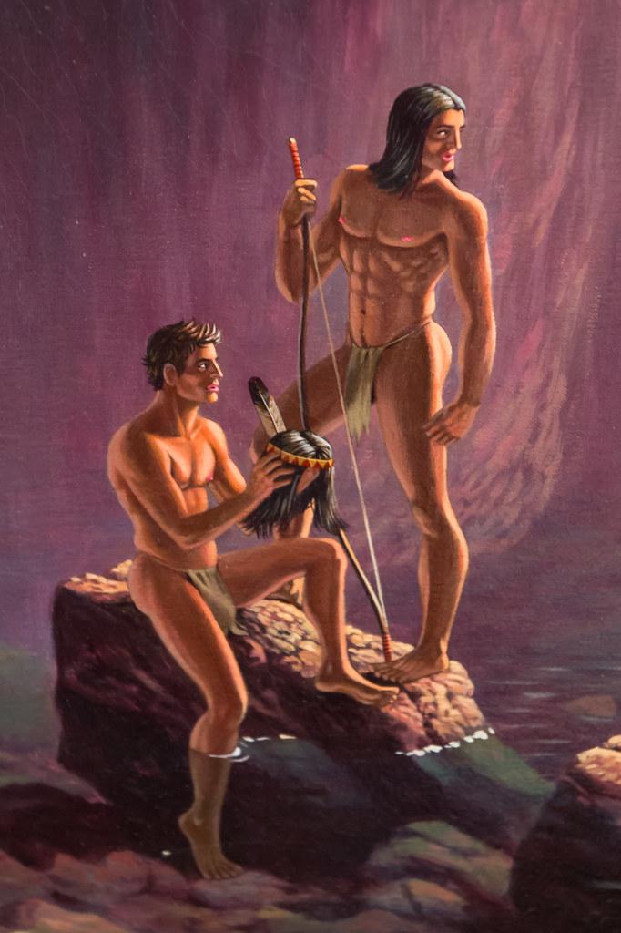 Trappers of Men by Kent Monkman closeup  Kent