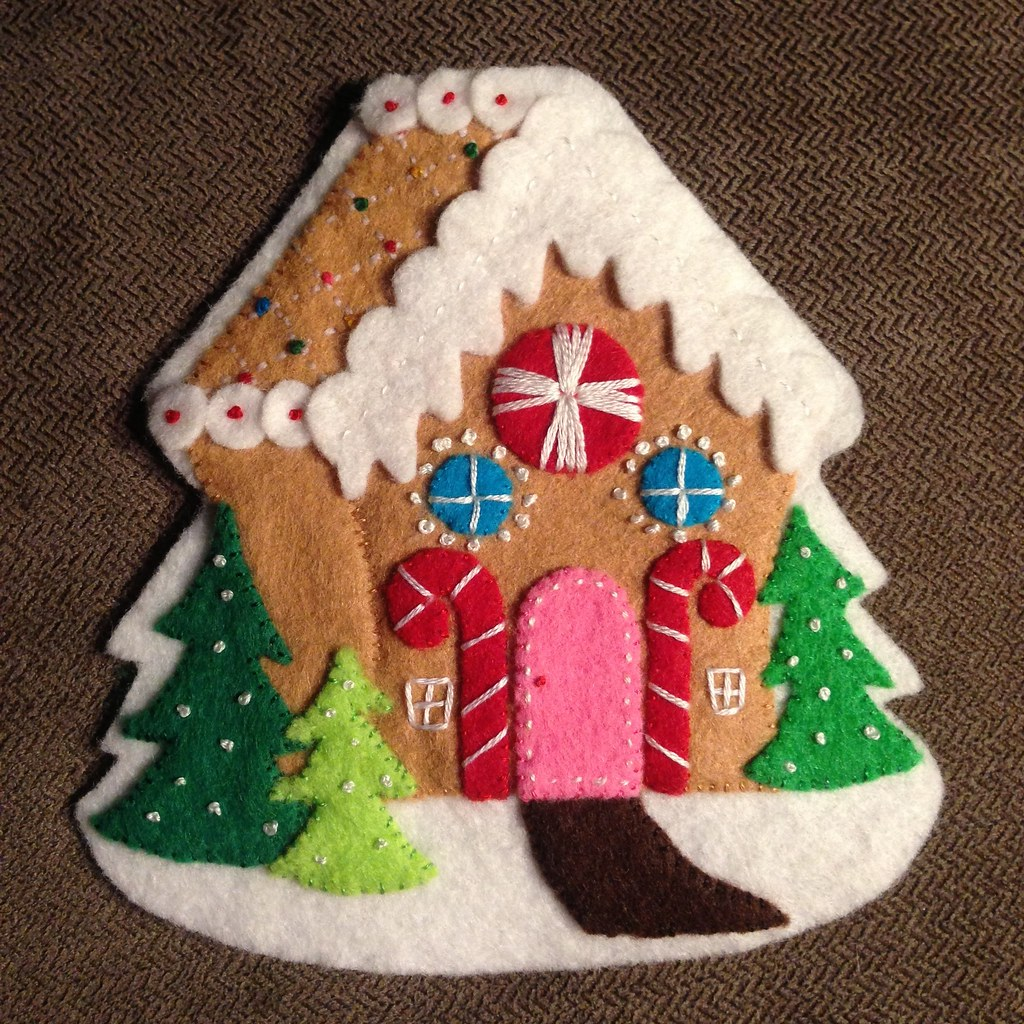 Wool Felt Gingerbread House