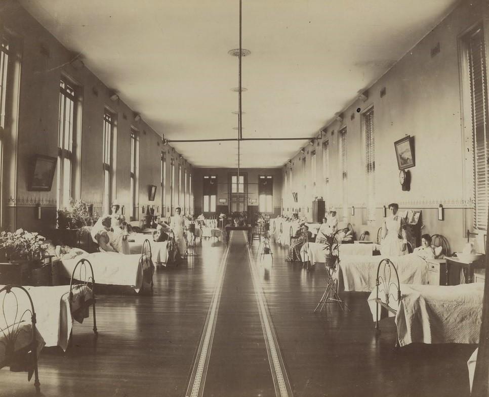Ward in Alfred Hospital Melbourne  ca 1901  ca 1918