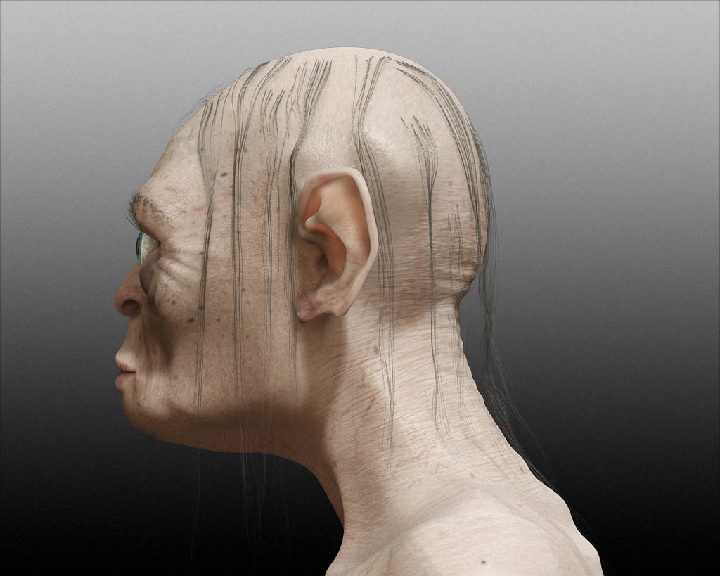 side view face drawing