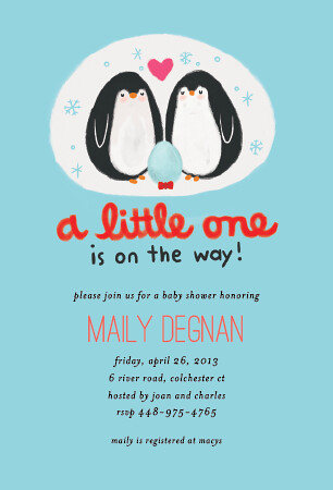 Penguin Family Animal Baby Shower Invitation  Oublycom  Flickr