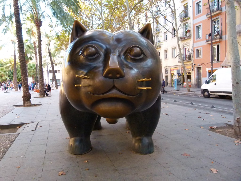 El Gato del Raval de Barcelona obra de Botero  Gat
