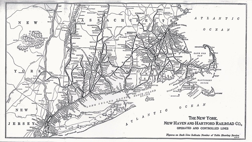 New York, New Haven and Hartford Railroad, System Map, 194