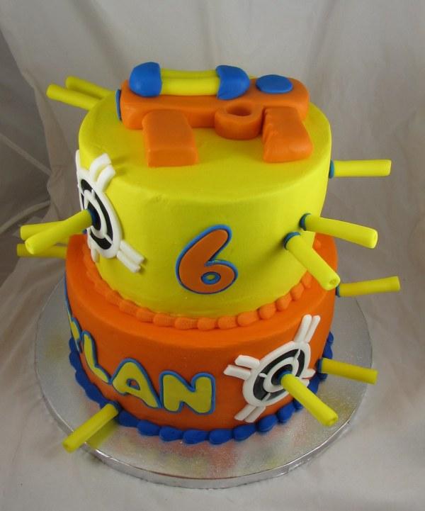 Nerf Gun Cake Sugarushbakery