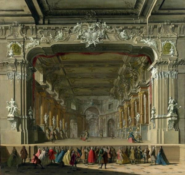Unknown North Italian Artist - Interior Of Theatre