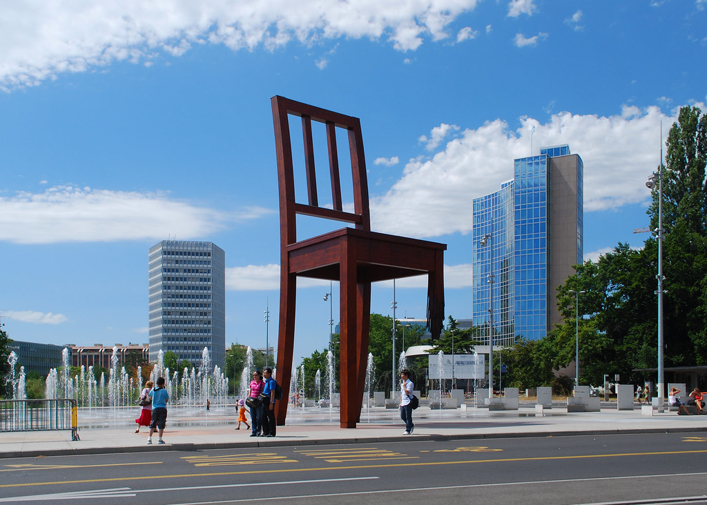Broken Chair Monument Geneva  Broken Chair is a monument