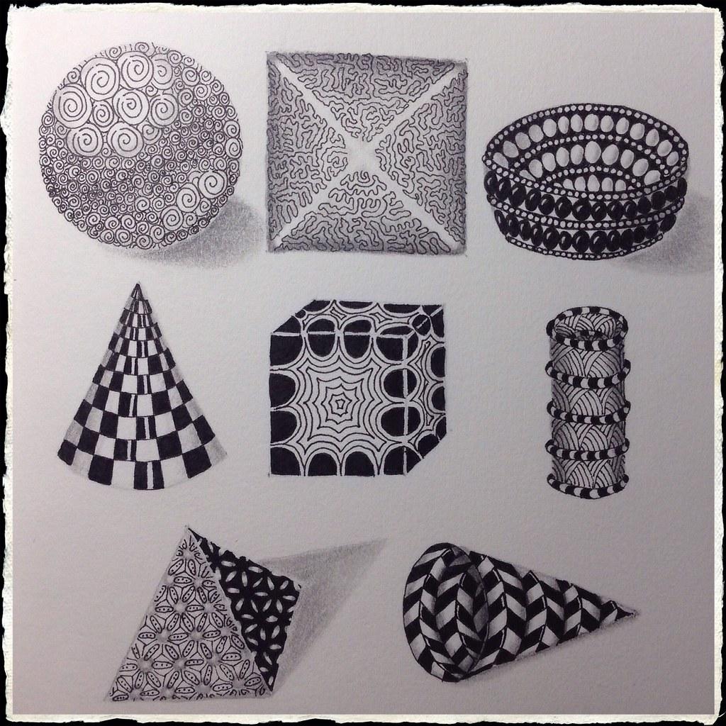 Zentangle Geometric Shapes As Strings