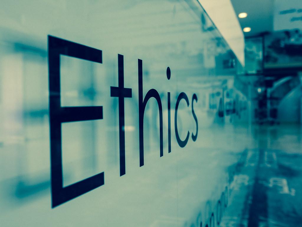 Ethics   on the reception desk of Al Jazeera Training