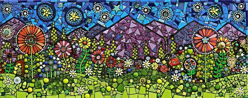 """Box Canyon Boogie"" Flair Robinson mixed media mosaic"