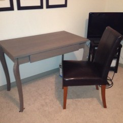 West Elm Desk Chair Low Back Chairs Camping Small Table Tv With Drawer