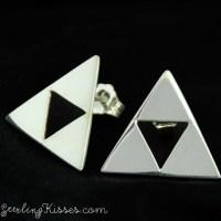 Triforce earrings. Only one pair left in stock! #zelda #tr ...