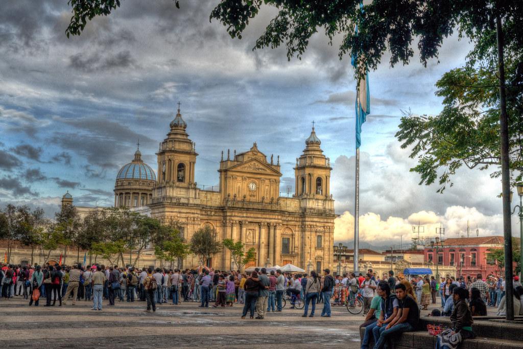 Guatemala Ciudad de Guatemala Parque Central y Catedral