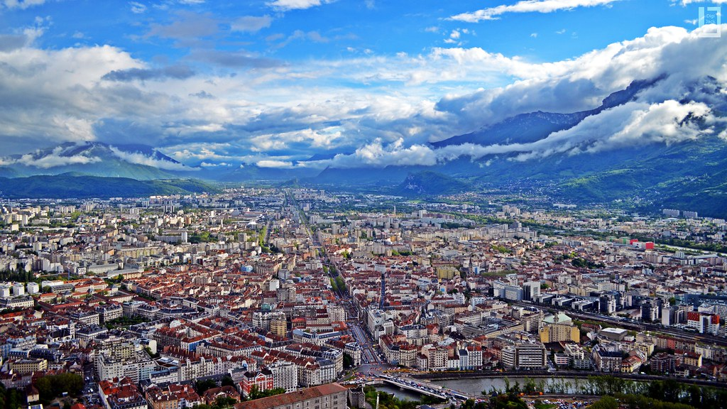 View on Grenoble and the Mountains  Grenoble France