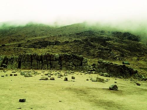 Τοίχωμα λάβας στο όρος κιλιμαντζάρο