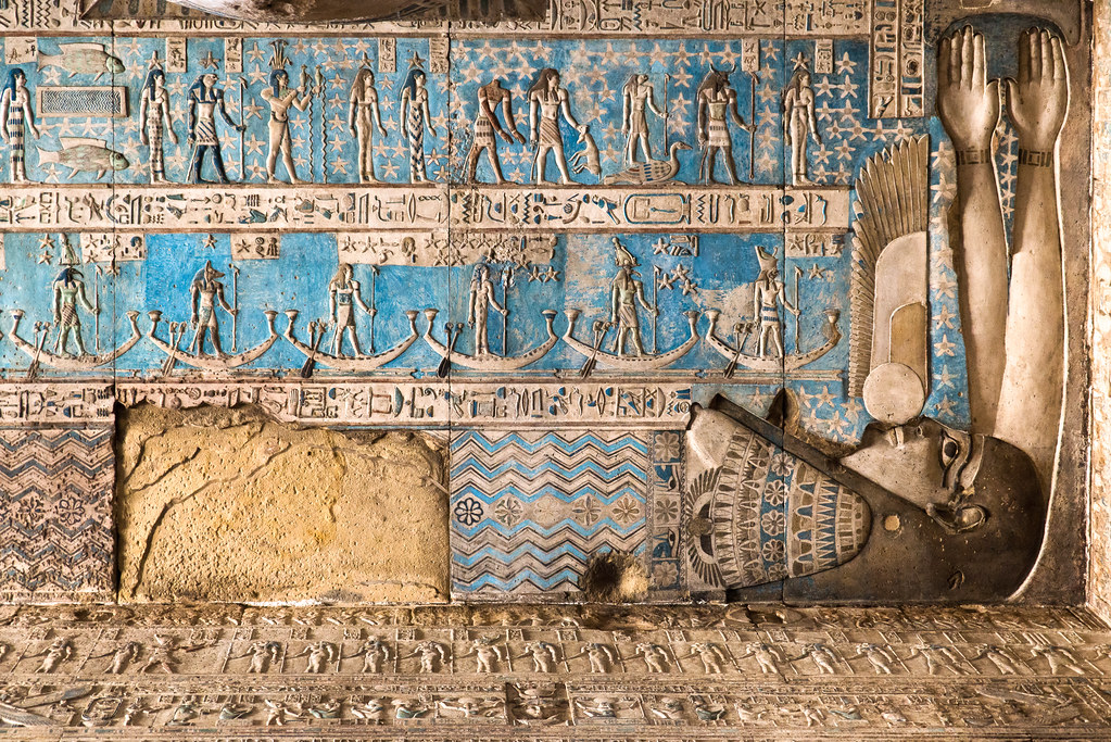 Dendera Temple 14  Scene from the astronomical ceiling of t  Flickr