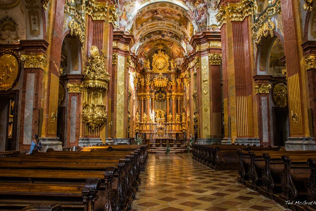 2015 Melk Abbey Church Interior Of The Melk Abbey