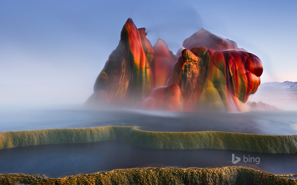 Wallpaper Hd Pic Fly Geyser Near Black Rock Desert Nevada Fly Geyser