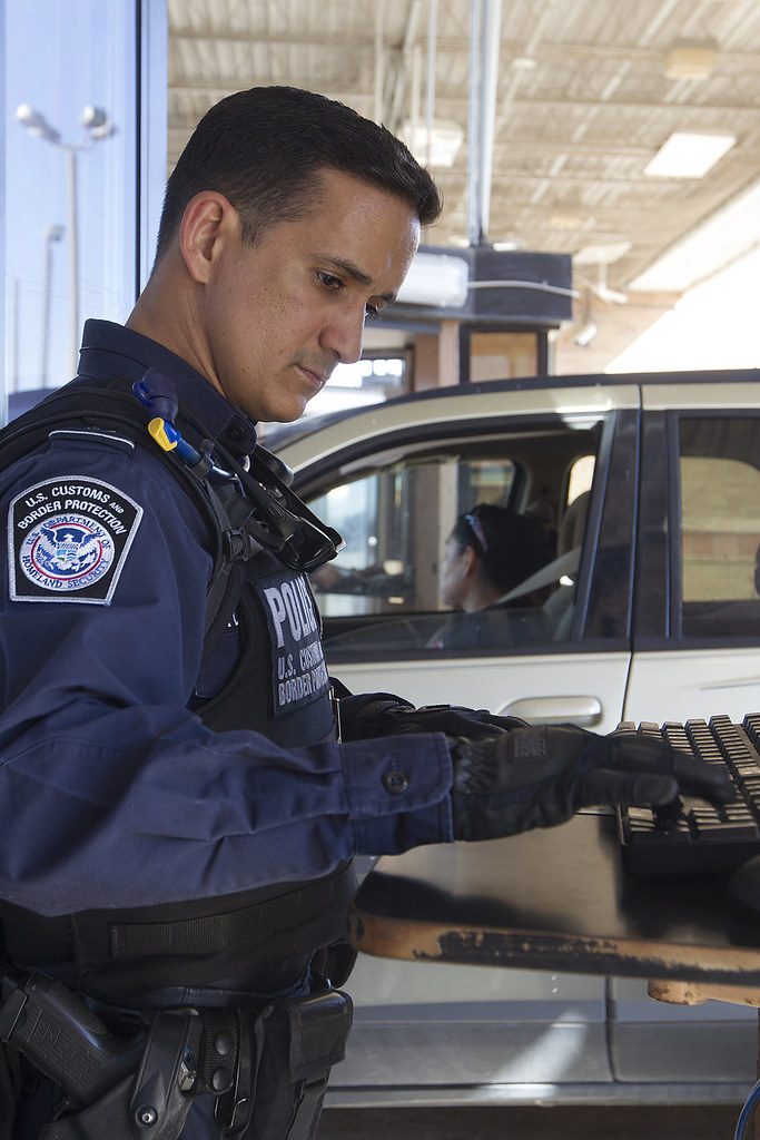 South Texas CBP Officer Works Inbound Traffic at the Hidal  Flickr