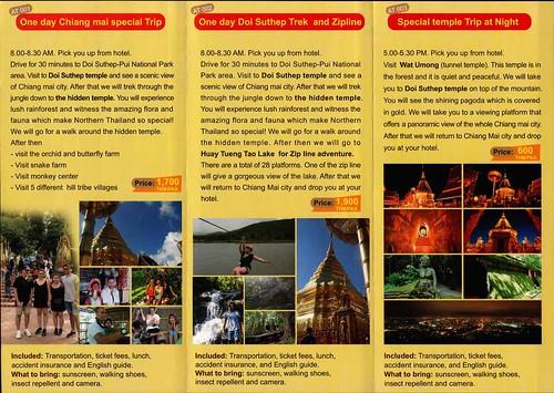 Brochure Sabai Tour Chiang Mai Thailand 2