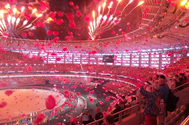 17. Openingsceremonie vuurwerk