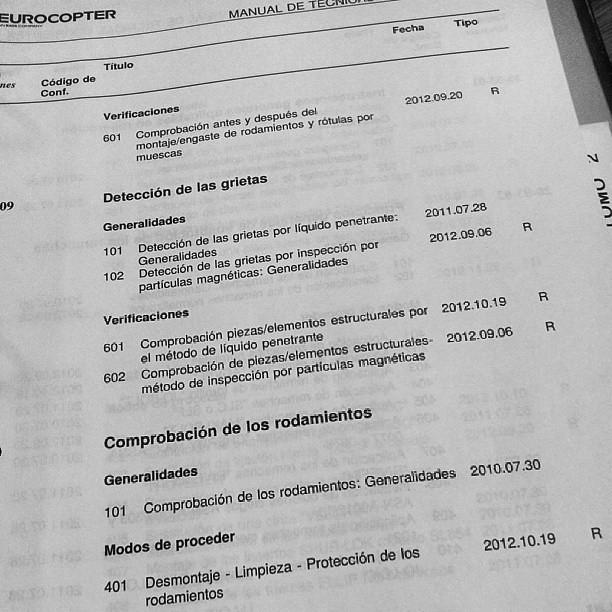 #Eurocopter #MTC; manual de técnicas corrientes; Don't kno